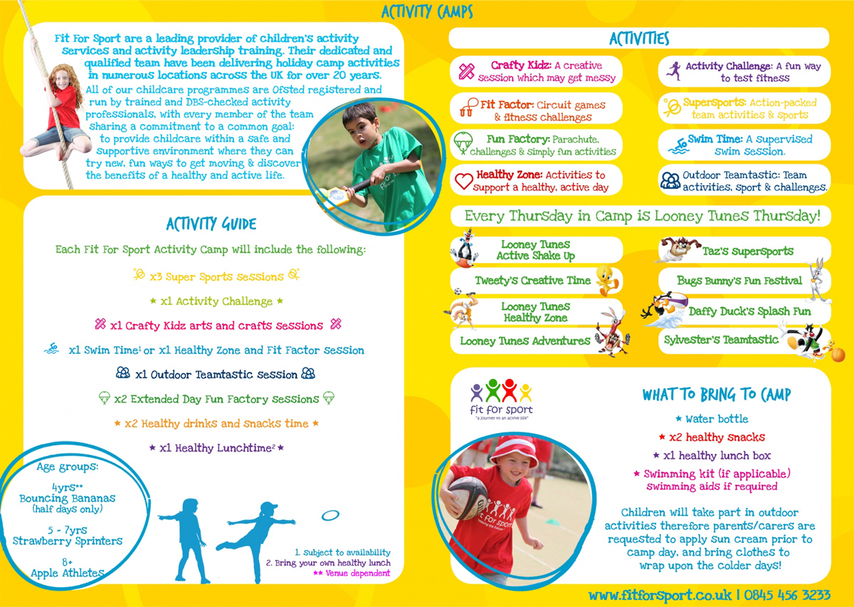 Activity Camps Fit For Sport A Journey To An Active Life Good Ideas May Not Have One The Circuit Below Be Fond Of You Schedules