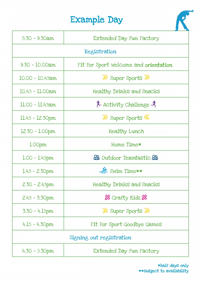 holiday activity camps - fit for sport