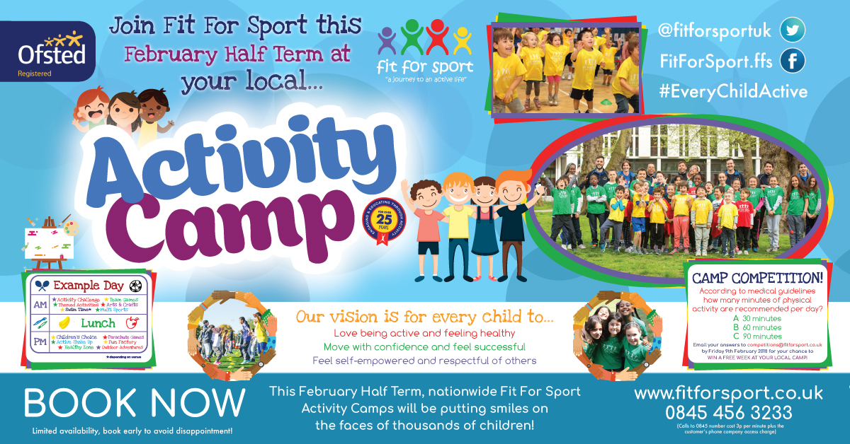 February half term activity camps London